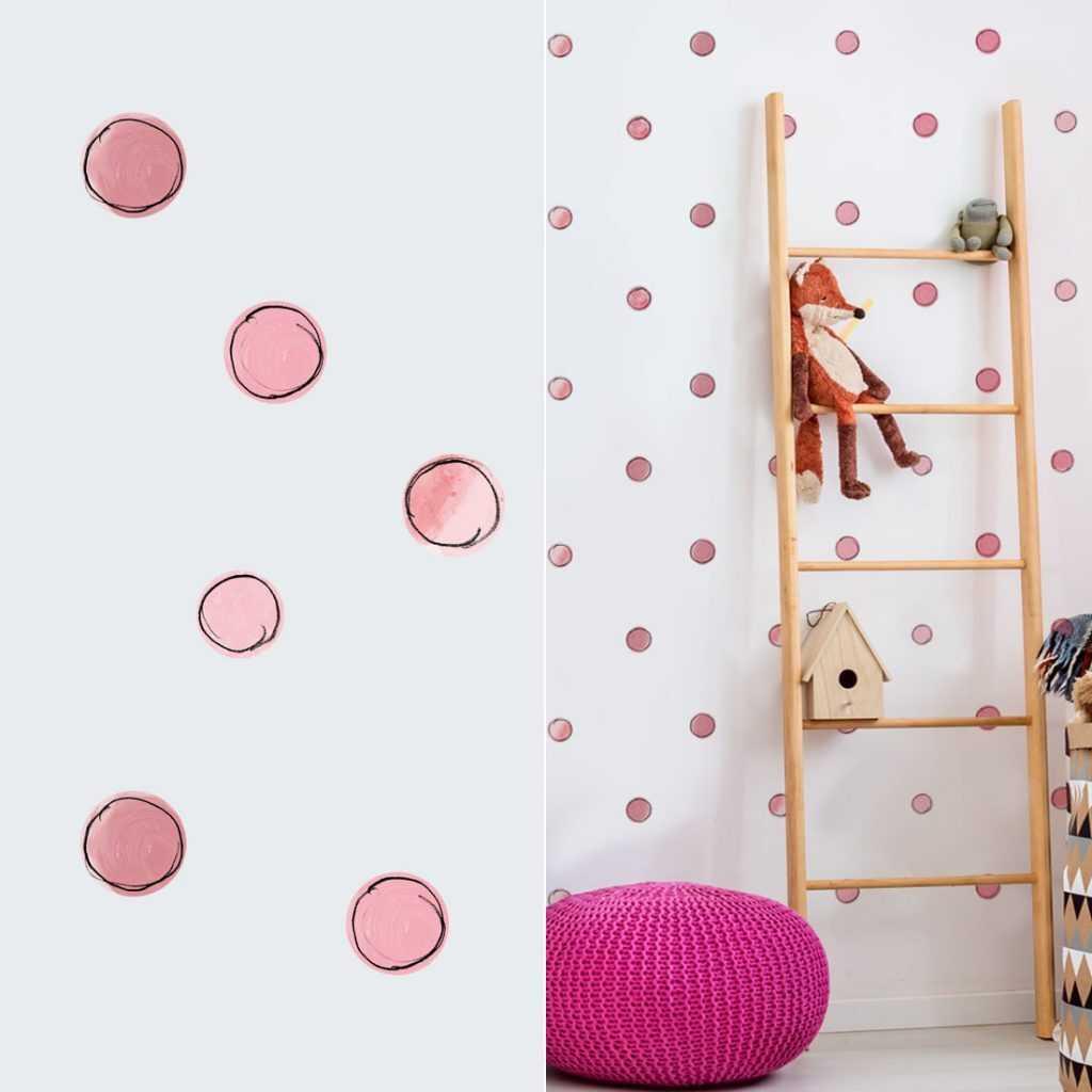 naklejki kropki na ścianę sklep bobom 2
